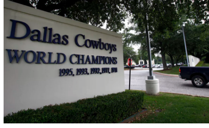 Image of the sign out front of the old Dallas Cowboys headquarters in Valley Ranch