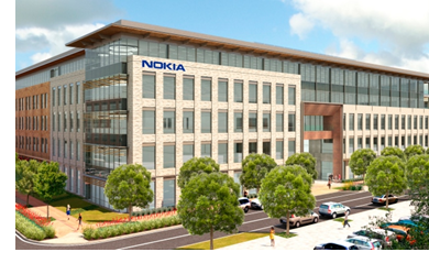 Rendering of the one of the buildings leased by Nokia.