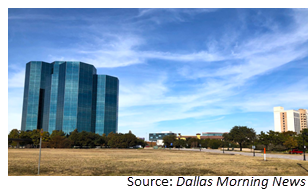 Vacant tract of land at North O'Connor and Las Colinas boulevards