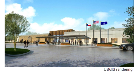 A rendering of the new USGIS facility in Iving, Tx.