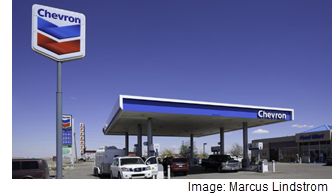 Image of a Chevron gas station.