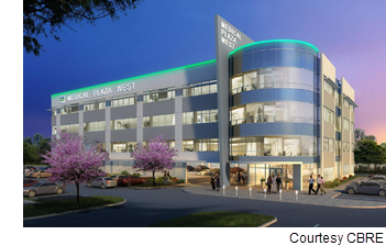 Rendering of Medical Plaza West.