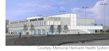 The Memorial Hermann Sports Park consists of a 50,000-sf, two-story facility that will house an IRONMAN Sports Medicine Institute, a UT Physicians Clinic, and a Memorial Hermann Medical Group clinic.