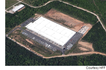 An aerial view of the Orgill Distribution Center in Kilgore, Texas.