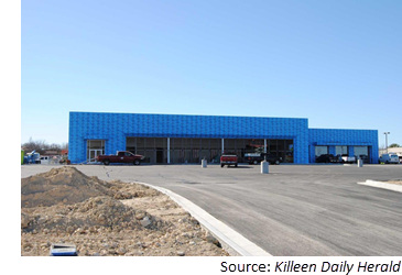 Construction underway at new Jeep dealership along E. Central Expy.