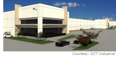 DCT Industrial Trust Inc. has fully leased its industrial park that's underway near Port Houston.