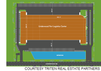 Rendering of the distribution center.