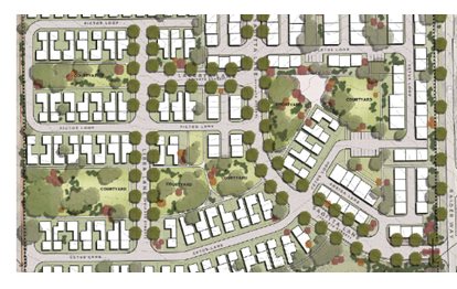 Site plan for the Enclave at Stewart Crossing
