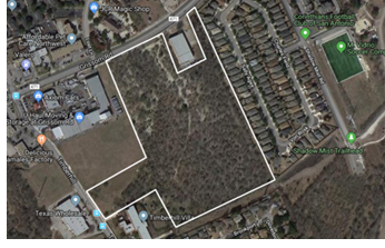 Aerial image of the tract of land White-Conlee bought.