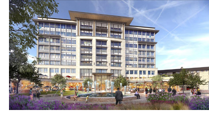Rendering of The Realm's first phase office building.