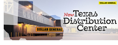 Dollar General confirmed the coming of a new distribution center in Longview, Texas.