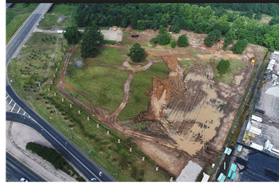 Picture of the Longview Arboretum construction site