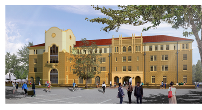 Rendering of the new Texas Tech Honors College residence hall