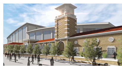 Rendering of sports performance center at Texas Tech