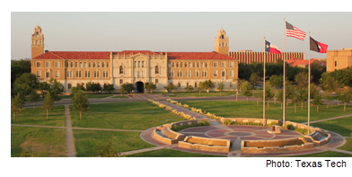 Texas Tech administration building in Lubbock