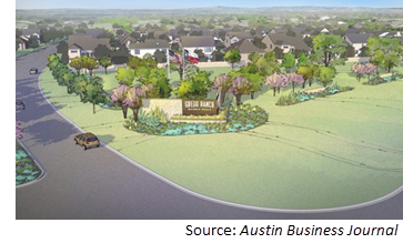 Rendering of Gregg Ranch in Marble Falls