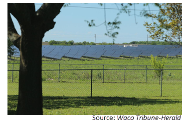 1.6 million solar panels will be placed in Mart and Riesel ISDs