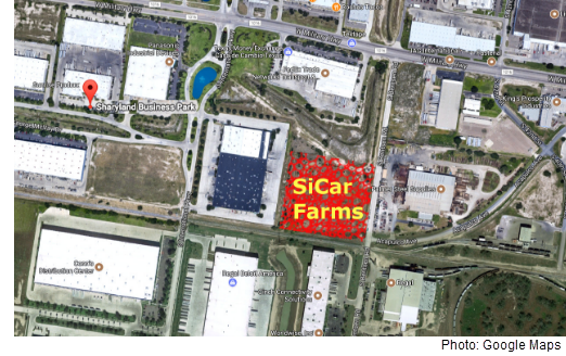 SiCar Farms will build a cold storage distribution center on a 5.7-acre tract in the Sharyland Business Center. Photo courtesy of Google Maps.