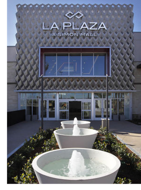 An entrance to the La Plaza mall in McAllen, Texas.