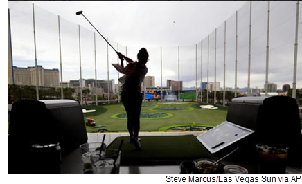 Pictured: a Topgolf location in Las Vegas, Nevada. Topgolf is expanding into the McAllen-Edinburg-Mission area with a location in Pharr.