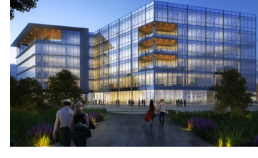 Rendering of Independent Banks completed corporate HQ