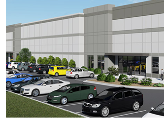 Rendering of McKinney Fulfillment Center.