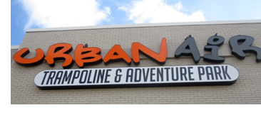 A picture of the sign of an Urban Air, like the one that will soon open in McKinney,