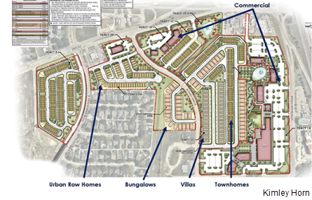 A site plan of Iron Horse Village in Mesquite.