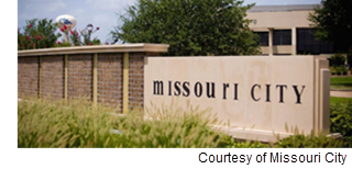 Image of the Missouri City sign.
