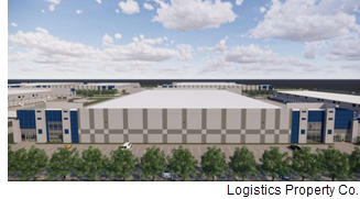 Rendering of a building in CityPark Logistics Center.