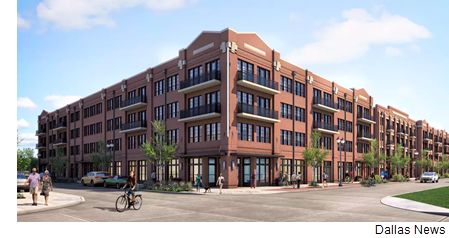 Rendering of the development set for the Frisco Square area.