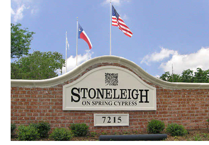 The Stoneleigh on Spring Cypress entrance.