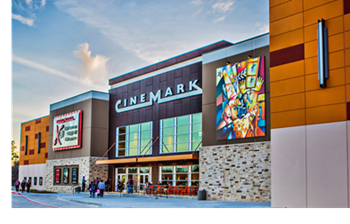 Located at 21,750 Valley Ranch Pkwy., the ten-auditorium movie theater features online ticketing, self-serve concessions and expanded food options.