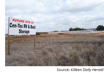 Future site of Cen-Tex RV and Boat Storage, an 8-acre facility