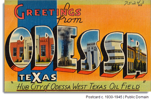A postcard circa 1930-45 that reads,