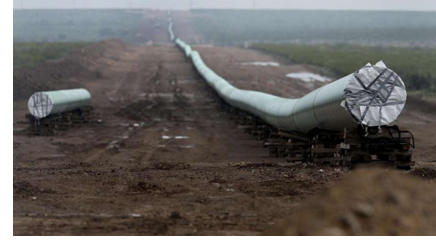Pictured: a pipeline under construction.