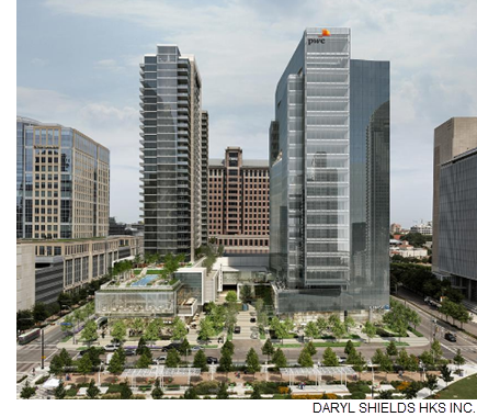 Global law firm Winston & Strawn LLP plans to move into two floors at PwC Tower upon its completion this summer.