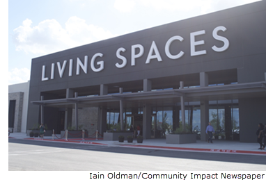 Image of the Living Spaces store in Pflugerville