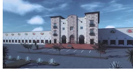A rendering of the Evergreen Cold Storage facility that broke ground in Pharr, Texas.