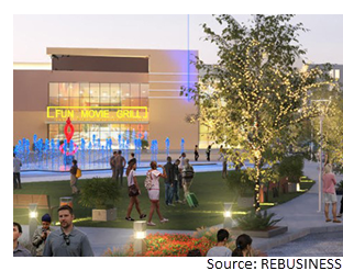 Rendering of Fun Movie Grill in Mustang Square