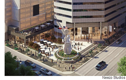 A $58 million, 31,000-square-foot food hall dubbed Lyric Market will open in Houston's Theater District in fall 2018.