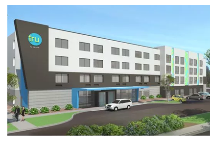 Developers plan to break ground in summer 2018 on a new hotel, Tru by Hilton, near the Outlets at Corpus Christi Bay.
