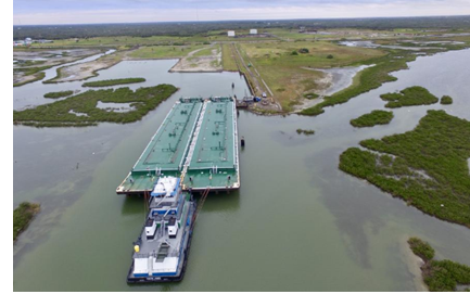 San Antonio-based Rockport Terminals LLC is remediating and redeveloping a former carbon black plant between Port Aransas and Rockport into a private marine terminal. The facility received its first customer in early November — a barge that came from Port Corpus Christi to be cleaned.