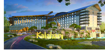 Rendering of Kalahari Resort.