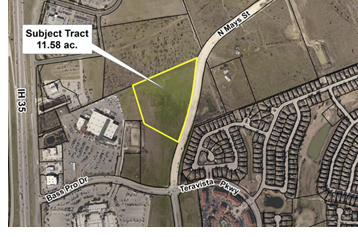 Map of 11.5 acre parcel in North Round Rock