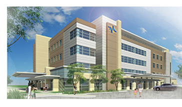 Rendering of the new Cancer center in Round Rock