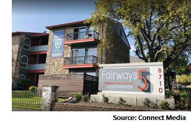 Fairways 5, one of the properties in LYND's 645-unit multifamily portfolio