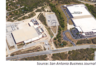 Location of Microsoft's data center at 5200 Rogers Rd.