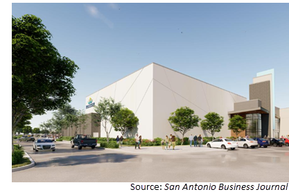 Rendering of Santiko's new movie theater complex at I-10 and Boerne Stage Rd.