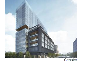 A rendering of the 20-story 1603 Broadway tower.